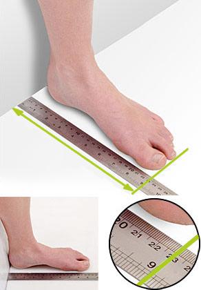 Ako si správne odmerať nohu